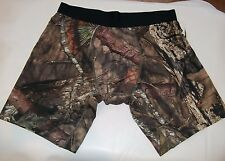 MENS MOSSY OAK PERFORMANCE COMPRESSION LONG LENGTH SHORTS BOXERS  (camo)