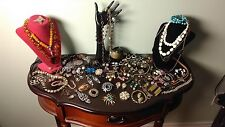 Vintage Costume Jewelry Lot 50+ items Signed, unsigned.. Stunning!