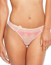 Passionata White Nights String Thong Brief Floral Rose Pink 4067 Size L NEW