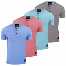 Mens Brave Soul T Shirt Short Sleeved Henley Collar Casual Summer SMALL ONLY