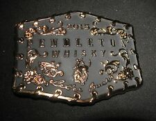 GOLD/BLACK Pendelton Whisky Belt Buckle Montana Silversmiths Bronco Buck Rodeo