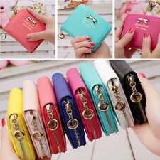Womens Fashion PU Leather Small Wallet Card Holder Zip Coin Purse Clutch Handbag