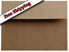 25 Pack A2 A6 A7 Kraft Grocery Bag Brown + more Envelopes for Greeting Cards