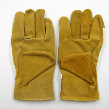 1 Dozen ( Pairs Of 12 ) Pigskin Leather Palm Industrial Work Gloves- Size-Large