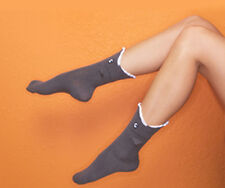 Shark Socks - Foot Traffic NWT grey Crew Socks punk nautical Derby novelty socks