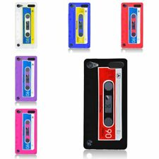 For Apple iPod Touch 5th Gen Cassette Tape Rubber Silicone Skin Gel Case Cover