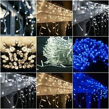 Icicle String LED Lights Snowing Window Reception Party Indoor Outdoor Wedding