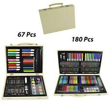 Crafts And Arts Kids Art Set Paints Children Toys Toddler Crayons Oil Pencil Box