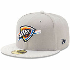 Oklahoma City Thunder New Era Visor Fresh 59FIFTY Fitted Hat - Gray - NBA