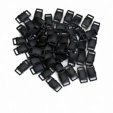 10/25/50pcs 27mm Black Plastic Side Release Buckles For Webbing Bags Straps UK