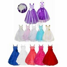 Flower Girl Princess Dress Kid Party Pageant Wedding Bridesmaid Formal Dresses