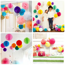 Round Paper Lantern Honeycomb Balls Tissue Pom Pom Party Wedding Hanging Decor