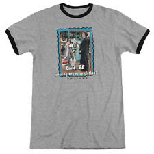 Friends Any More Clothes Mens Adult Heather Ringer Shirt Heather/Black