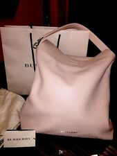 100% Authentic Burberry London Bag Grainy Leather Medium Light Nude  Hobo $1150