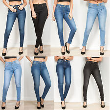 WOMENS LADIES FASHION SKINNY FIT DENIM JEANS/JEGGINGS SIZES 6 8 10 12 14 16 18