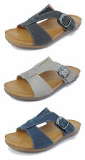 Womens Ladies Open Toe Adjustable Strap Buckle Comfort Mules Sandals Sizes 3-8