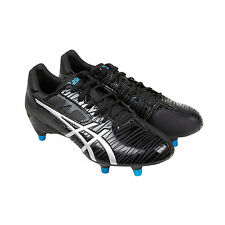 Asics Gel Lethal Speed Mens Black Leather Athletic Rugby Cleats Shoes