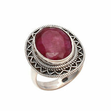 RUBY CHECKER SOLID 925 STERLING SILVER TRUE CUSTOM RING SIZE 5,6,7,8,9,10