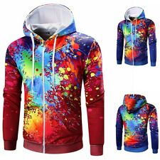 Men Hoodie Hooded Jacket Coat Long Sleeve Zipper Sweatshirt Cardigan Sweater New