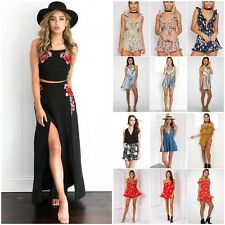 Women Ladies Celeb Mini Dress Floral Print Playsuit Jumpsuit Summer Beach Dress