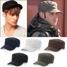 Men Women Vintage Adjustable Army Plain Hat Cadet Military Baseball Sport Cap