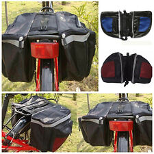 Cycling Bicycle Bike Rack Back Rear Seat Tail Carrier Trunk Double Pannier Bag M