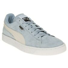 New Mens Puma Blue Suede Classic Trainers Retro Lace Up