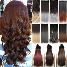 Long Thick Full Head Clip in Hair Extensions real natural 5% remy human hair TU8