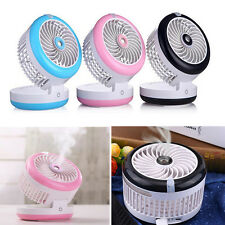 Mini Air Conditioner USB Power Water Spray Mist Misting Fan Humidifier Cooler HG