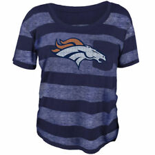 Denver Broncos Juniors Bolder Burnout T-Shirt - Navy Blue - NFL