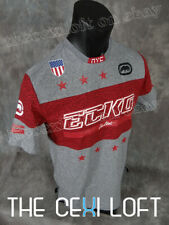 Mens ECKO UNLTD Brand RACING EDITION Heavyweight T-Shirt in Red & Grey