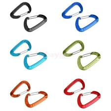2 Pieces 5KN Aluminum Wiregate Carabiners Spring Clip Hook Keychain for Hammocks