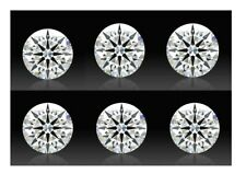 Super BrilliantWhite 8 Hearts & Arrows Round AAAAA Cubic Zirconia 6/8/10mm Size