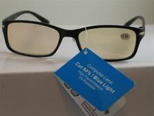 COMPUTER READING GLASSES ANTI REFLECTIVE TINTED LENS UV PROTECTION 2.00