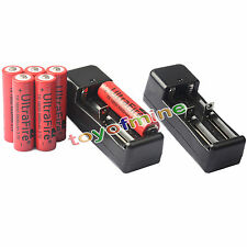 6x 3.7V 18650 Li-ion 6800mAh Rechargeable Battery +2x 18650 Charger