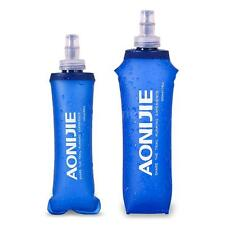 Portable Foldable Freezable Water Bottle Bag With Hook Hiking Cycling U1N8