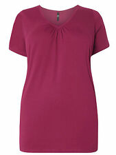 NEW - EX EVANS PURE COTTON MULBERRY PINK T-SHIRT TOP - SIZES 22/24 26/28 30/32