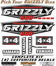 Yamaha Grizzly OEM ATV Tank Decal Graphic Sticker Kit 350 450 550 660 700