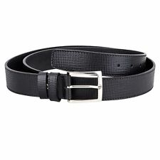 Checkered Belt Big and Tall Mens Belts Black Italian Leather Dress Suit Casual