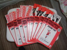 Middlesbrough Home Programmes. 1971 to 2002.