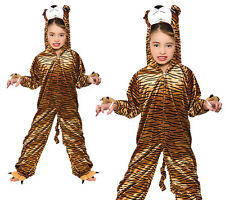 Tiger Zoo Animal Kids Fancy Dress Costume Onesie Animals Outfit Ages 3-13