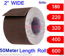 """2"""" Wide Emery Cloth 150ft(50 mtr) Roll, Emery Roll, Cloth Back- Choose Your Grit"""