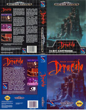 Dracula Sega Megadrive & Genesis PAL NTSC Replacement Box Art Case Insert Cover