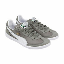 Puma Super Liga Nbk Mens Gray Leather Sneakers Lace Up Sneakers Shoes