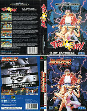 Fatal Fury Sega Mega Drive Genesis PAL NTS Replacement Box Art Case Insert Cover