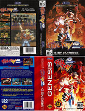 Fatal Fury 2 Sega Mega Drive Genesis PAL Replacement Box Art Case Insert Cover