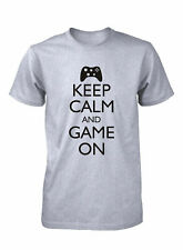 Hot4TShirts Keep Calm and Game On Funny T-Shirt Video Game Computer Geek for Men
