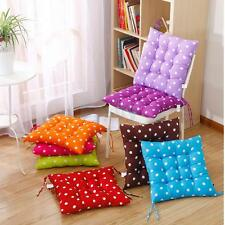 Indoor Outdoor Dining Garden Patio Chair Seat Pad Dots Tie On Cushion 8 Colors