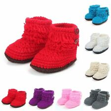 Baby Girl Boy Soft Sole Booties Snow Boots Infant Toddler Newborn Crib Shoes New