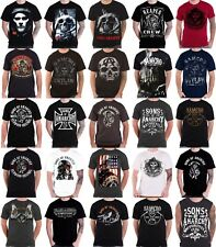 Sons Of Anarchy T Shirt official new mens Jax Skull Outlaw Banner SOA SAMCRO